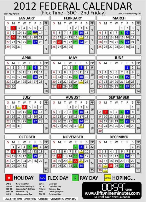 Federal government pay period calendar 2012