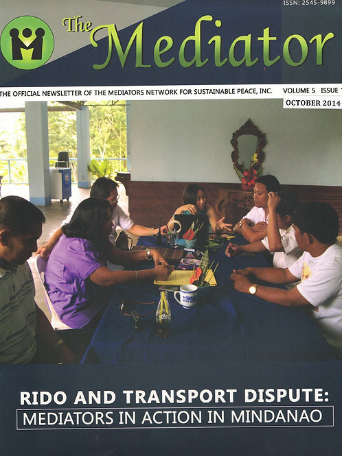 Rido and Transport Dispute: Mediators in Action in Mindanao