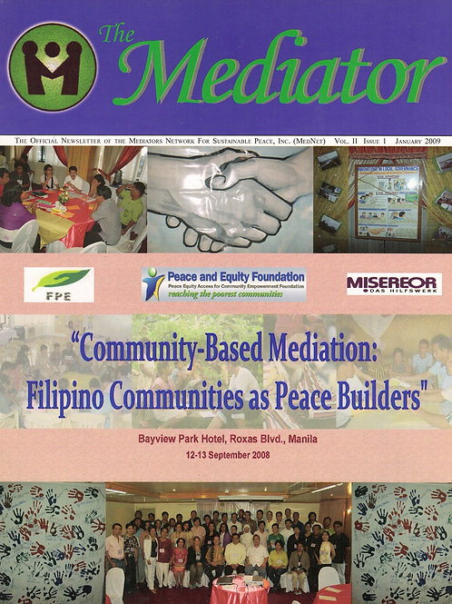 Community-Based Mediation: Filipino Communities as Peace Builders
