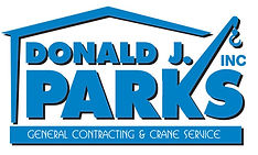 Donald J. Parks., Inc. General Contracting and Crane Service Logo