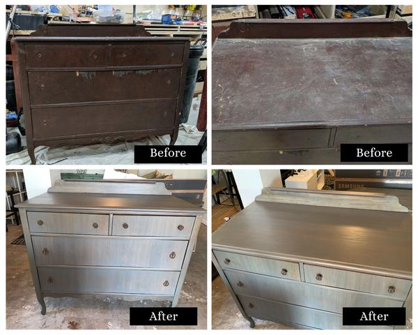 Dresser Refinish + Veneer Replacement
