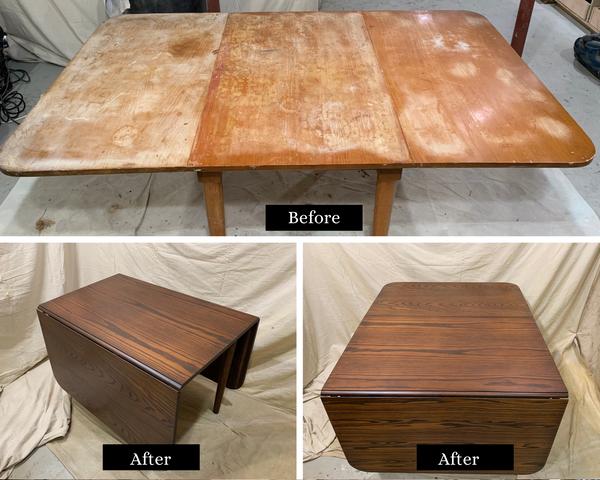 Drop Leaf Table Restoration