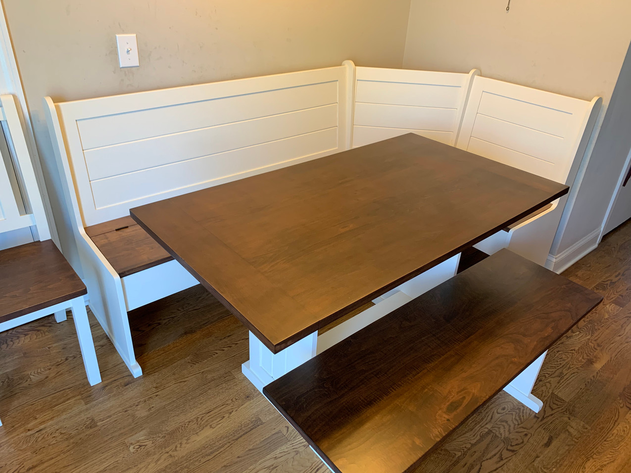 Farmhouse Table Build with Bench and Chair