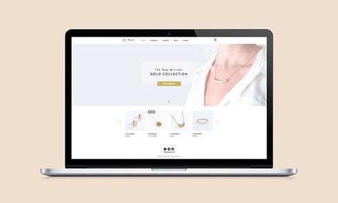 보석 사이트 웹 디자인