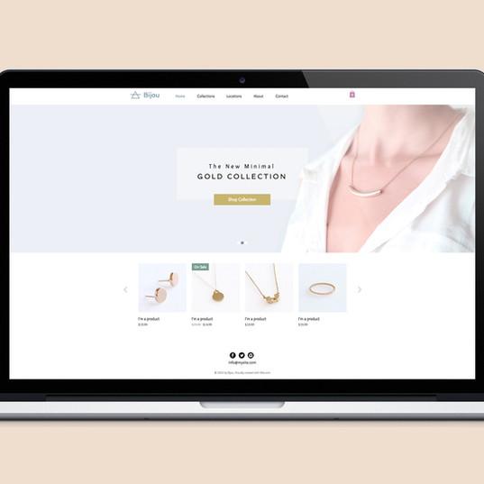 Diseño Web Sitio de joyería