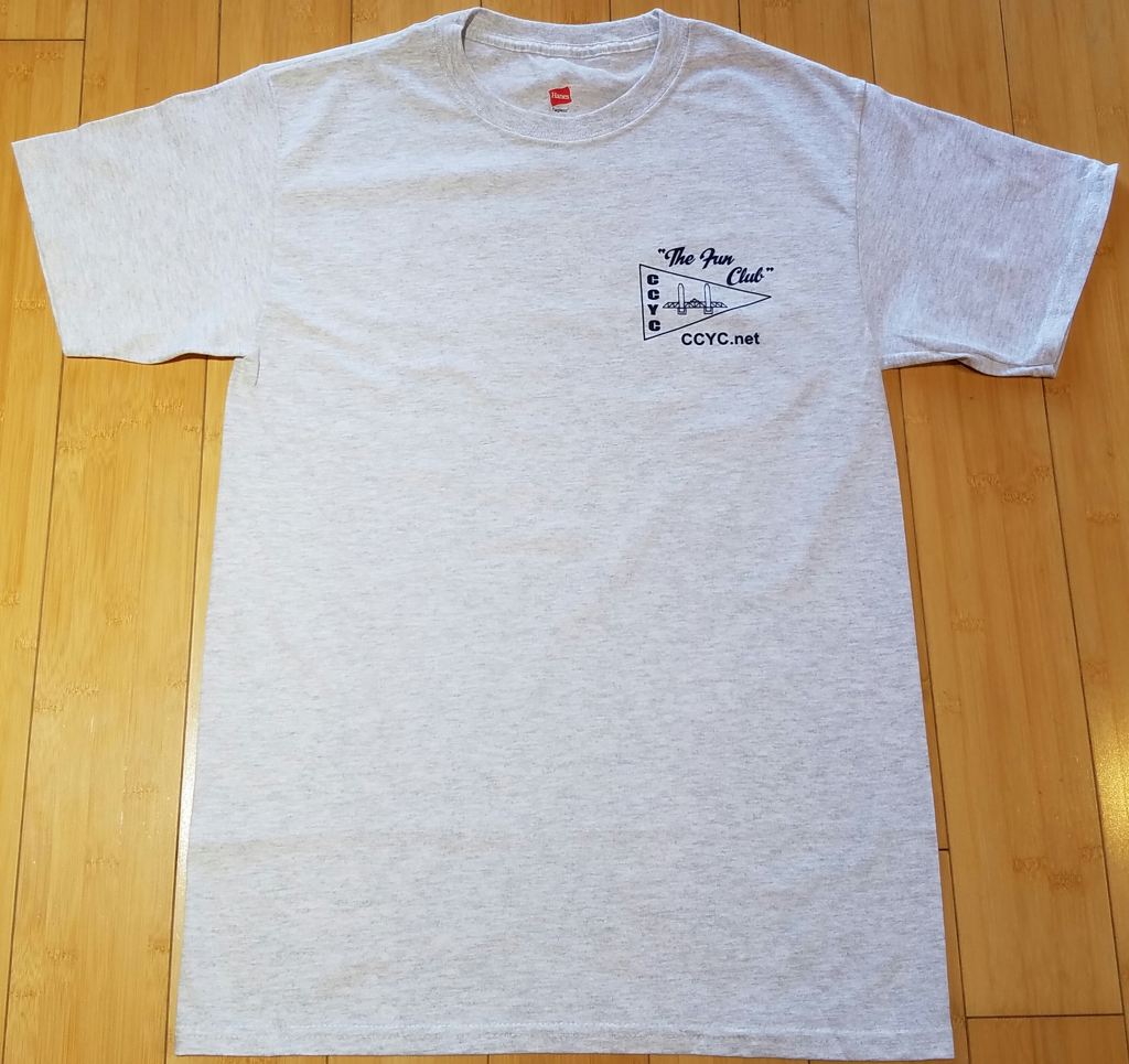 CCYC Mens grey T  (front)
