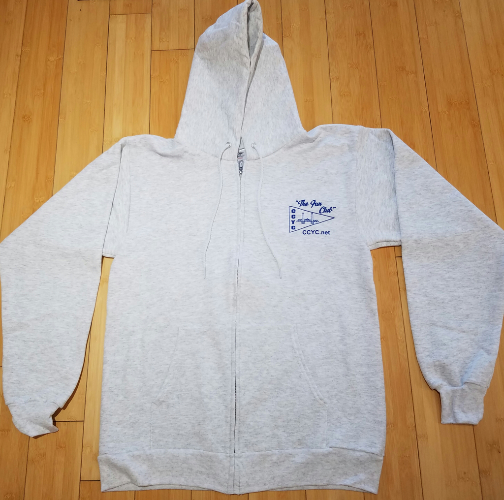 CCYC Zippered Sweatshirt grey (front)