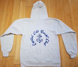 CCYC Zippered Sweatshirt grey (back)