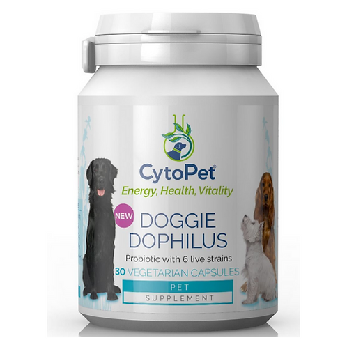 Donate to Cricket - Cytopet Doggie Dophilus - Canine Probiotic - 30 Capsules