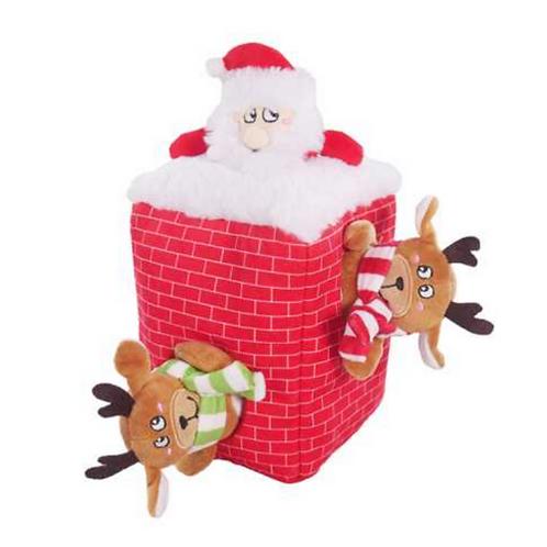 Comet & Cupid Peek-a-boo Santa