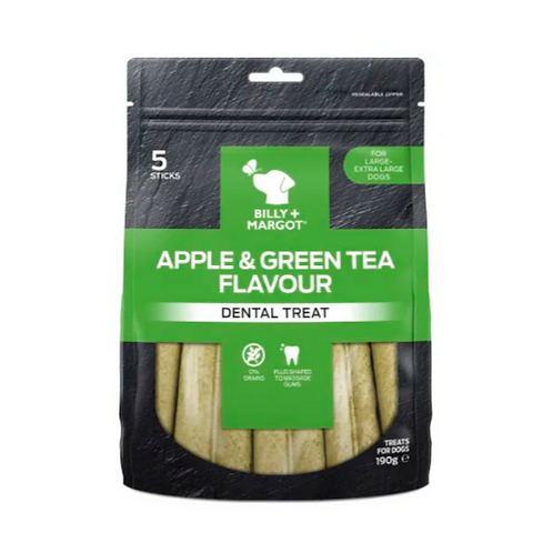 Billy & Margot apple and green tea dental sticks - large
