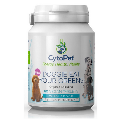 Cytopet Doggie Eat Your Greens 100% Organic Spirulina - 60 tablets