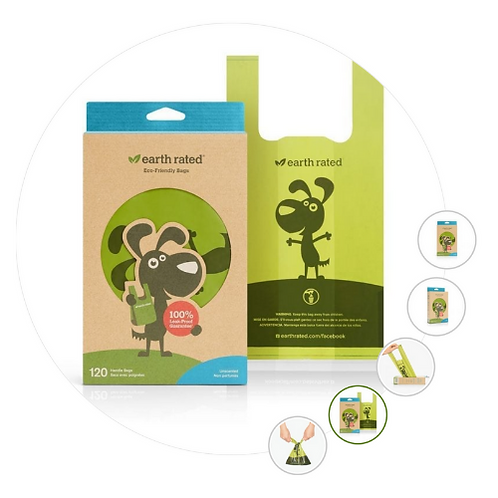 Earth Rated Tie Handle Poo Bags - 120 - Unscented