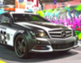 mercedes policia imprimax auto adesivos colmeia metalico