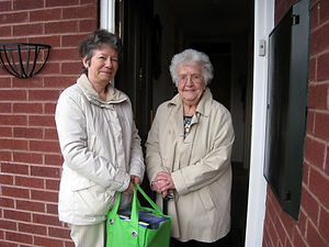 Another volunteer from Trowbridge Link helping with shopping