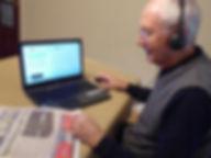 trowbridge talking news reader making recording