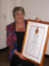 Sue Marshall of Trowbridge link receiving town's award