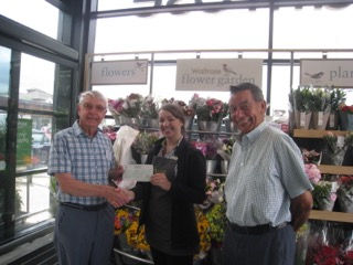 trowbridge talking news cheque presentation