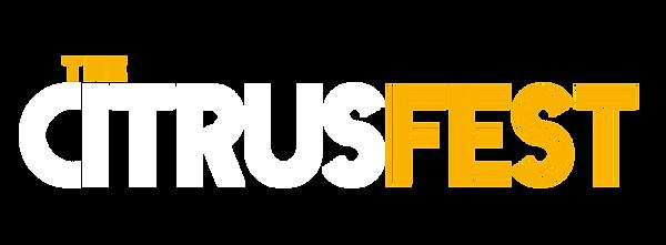 Citrusfest Logo White & Yellow - Main Lo