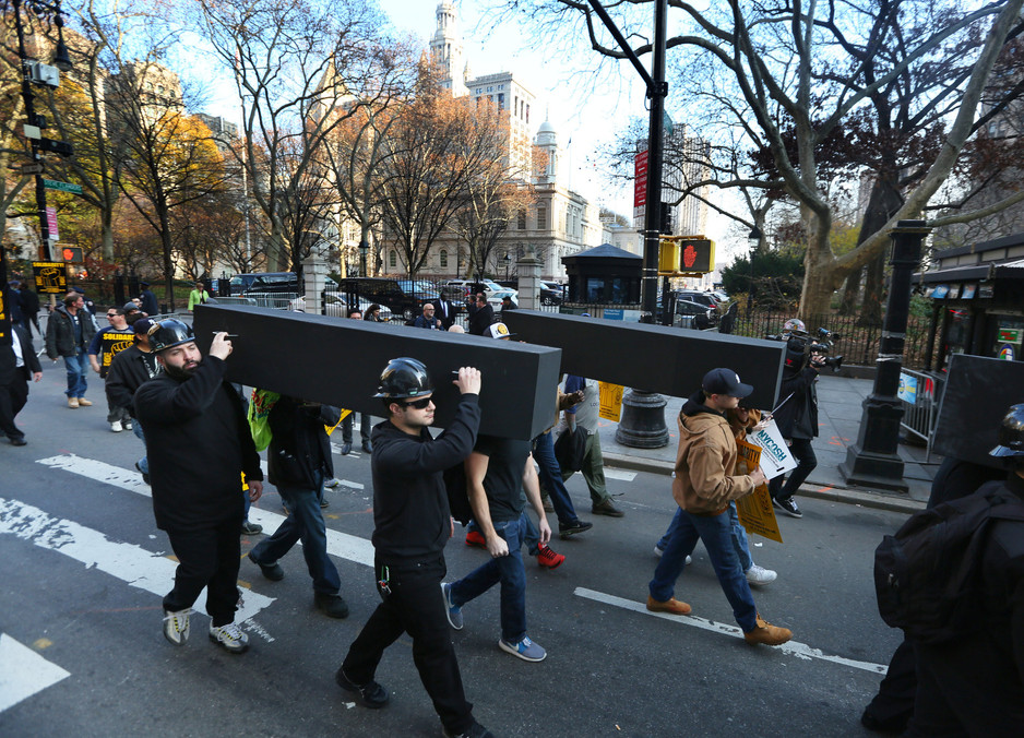 Building Trades Rally In NYC For Stronger Worksite Safety