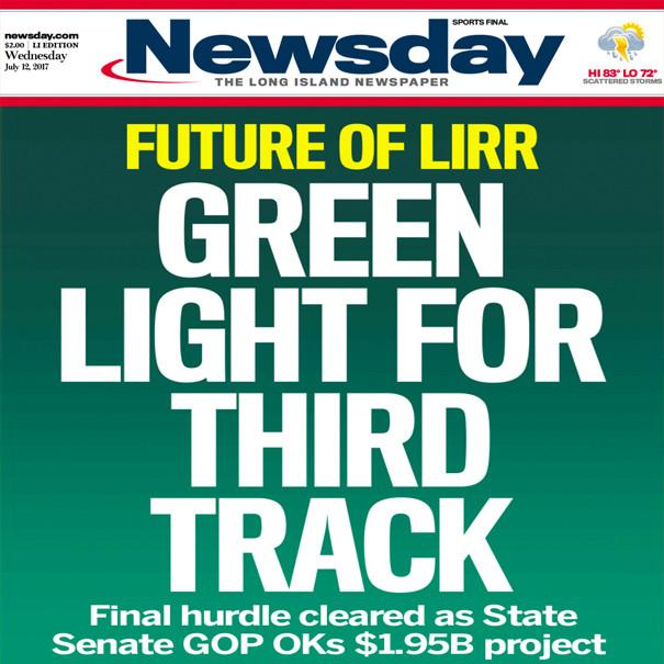 LIRR 3rd Track Is A Go - $1.95B plan OKd