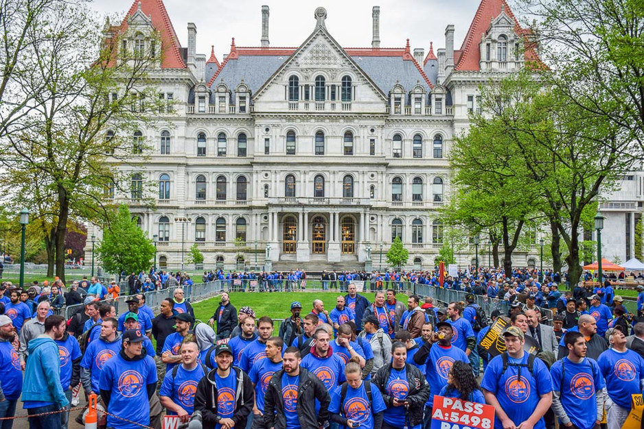 New York State Building Trades Host Definition of Public Works Rally