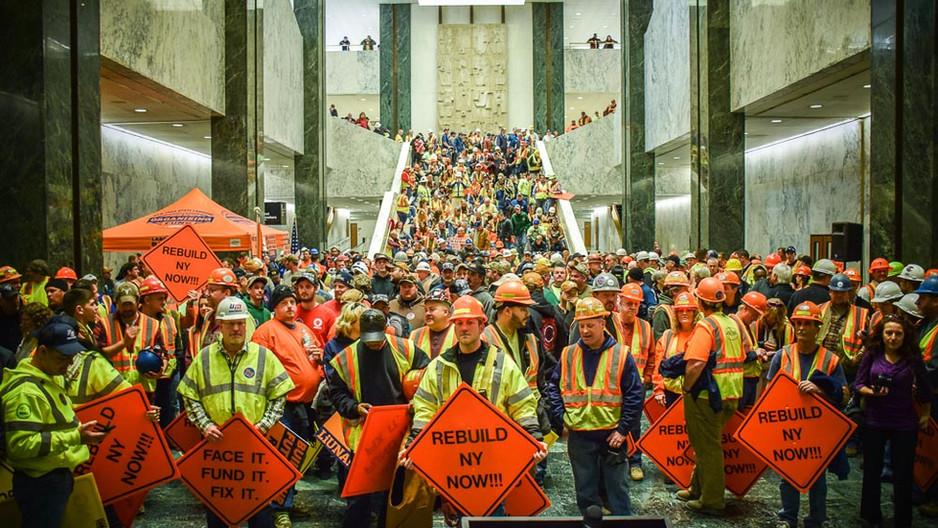 Rebuild NY Now Rally in Albany