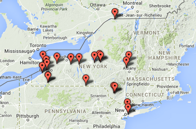 Map Of New York New York Casino.New York State Casino Board Announces Locations