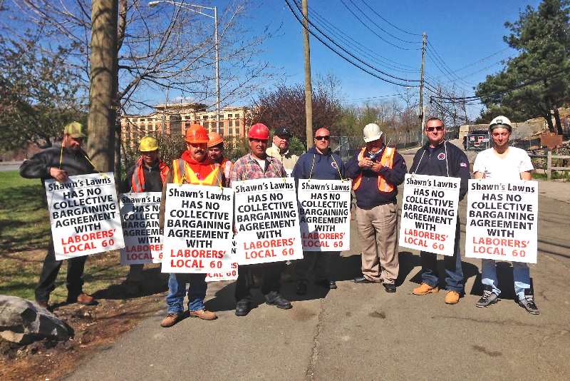 NYSLOF and Local 60 at job action picket line in Tarrytown, NY
