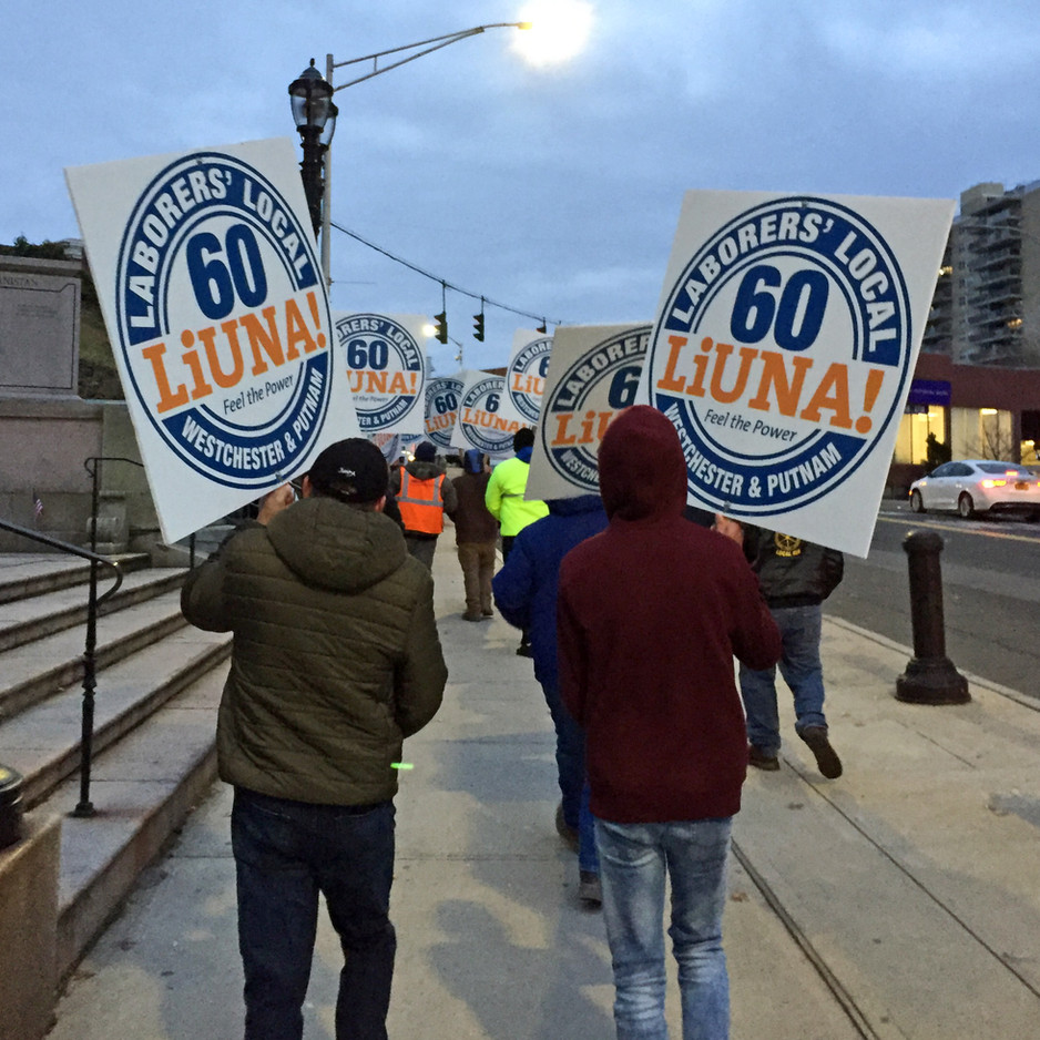 Laborers Rally for Good Jobs on Public Projects