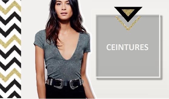 Pour structurer une blouse, enjoliver un haut ou une tunique, rien de tel qu'un joli ceinturon. La ceintureajoute sa touche stylée à une tenue, colore, individualise, structure, rappelle une couleur, décore... Pas si accessoire que ça la ceinture !