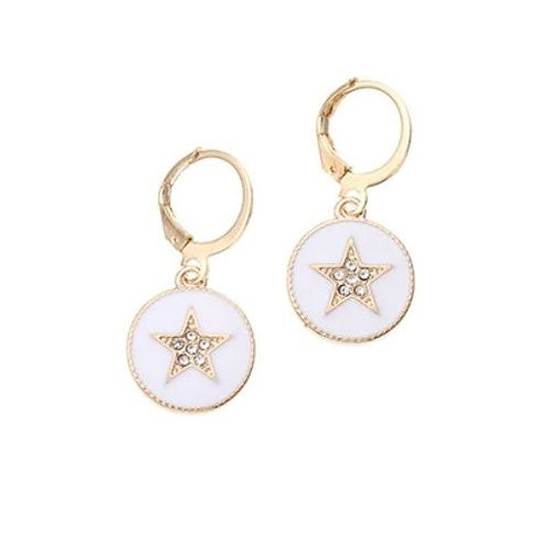 Mini créoles étoile strass