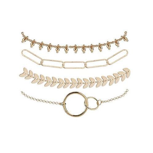 Lot de 4 bracelets en chaîne fine à accumuler