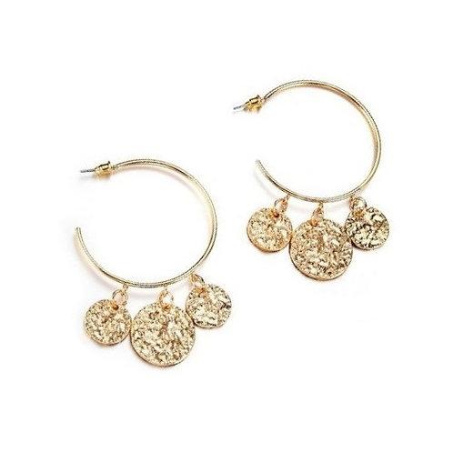 Boucles d'oreilles créoles dorées