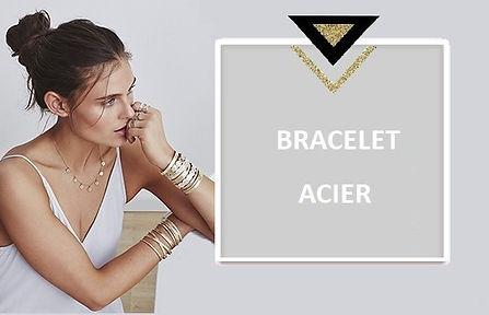 Le bracelet acier femme vous permet tous les styles en associant un bracelet chaînette en acier inoxydable charme avec un bracelet en acier jonc