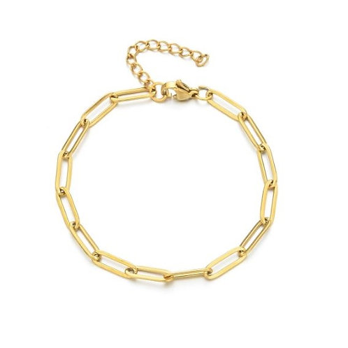 Bracelet acier maille hip hop