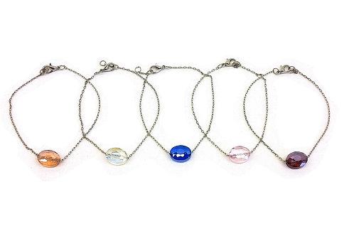 Bracelets charms perle de verre chaînette