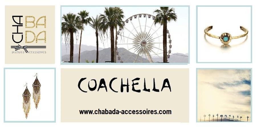 Inspirés de l'atmosphère du festival annuel Coachella, Chabada vous propose une sélection de bijoux fantaisie avec un esprit « bobo chic », rythmé sur un air de liberté et d'insouciance