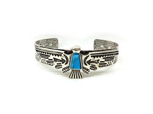 Bracelet jonc amérindien totem phoenix
