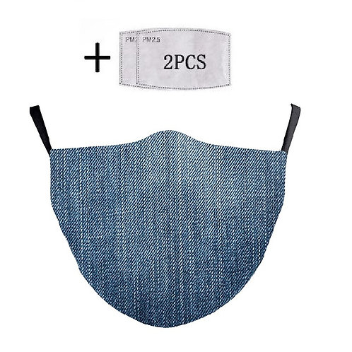 Masque tissu lavable jean denim