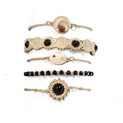 Set de 5 bracelets tendance