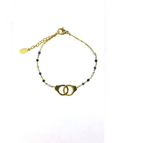 Bracelet en acier inoxydable doré menottes