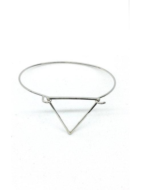 Bracelet jonc charm's argenté triangle