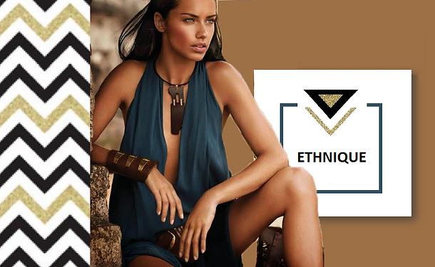 Ces bijoux ethniques et accessoires nous invitent au voyage et à la découverte des civilisations. On adopte les bracelets ethniques colorés, les colliers ras-de-cou ornés de gri-gri, les sautoirs faits de bois et de pierres ainsi que les boucles d'oreilles talisman pour nous donner une allure d'aventurière moderne !