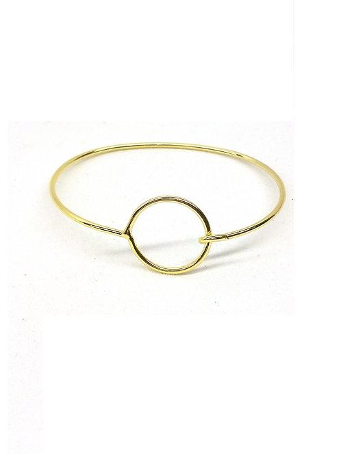Bracelet charme métal doré rond