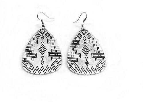 Boucles d'oreilles fantaisie motif amérindien