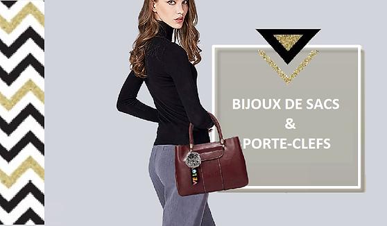 Pour accessoiriser votresac, re-booster son look et lui donner un style tendance, pensez au bijou de sac ! Ce même bijou peut être attaché à vos clefs, une bonne façon de vite les retrouver au fond du sac !