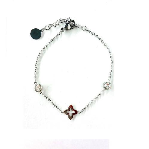 Bracelet acier inoxydable argenté
