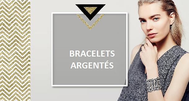 Un bracelet en métal argenté est très élégant et raffiné, sublimé de motifs ethniques, ou géométriques, martelés, gravés ou poinçonnés. En forme de jonc, il se fera plus discret pour la journée et pour un effet plus voyant, choisissez plutôt une manchette aérée de motifs en filigrane ou en métal argenté plein orné de dessins ciselés d'arabesques.