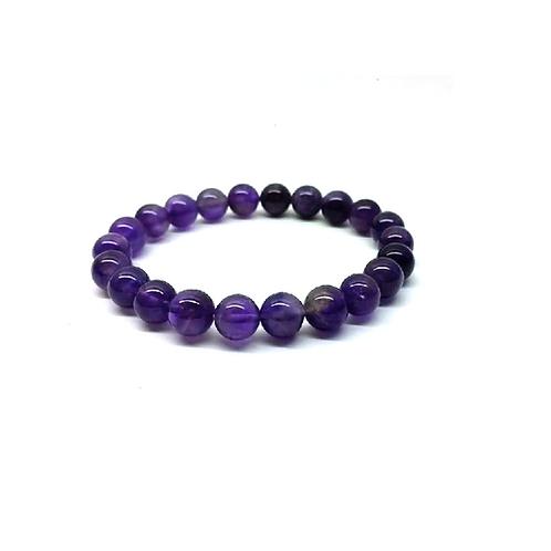 Bracelet en perles d'améthyste véritables